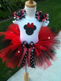 Blinged out Minnie Mouse tutu set