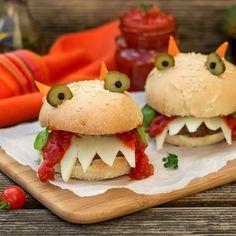 Recette Scary mini burgers d'Halloween à dévorer (facile, rapide)