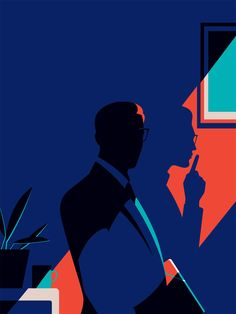 love the colors (dark blue and turquoise again) Malika Favre — Handsome Frank Illustration Agency Science Illustration, Illustration Agency, Illustration Design Graphique, Illustration Inspiration, Illustration Vector, Graphic Design Inspiration, Vector Art, Shadow Illustration, Portrait Illustration