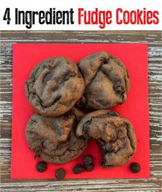 How to Make Cookies From Cake Mix Boxes!  Craving an especially delicious treat this week?  You're going to love these decadent and delicious cookies! Triple Chocolate Chip Cookies, Chocolate Fudge Cake, Dark Chocolate Cakes, Chocolate Flavors, Decadent Chocolate, Chocolate Recipes, Cake Mix Cookie Recipes, Delicious Cookie Recipes, Cookie Desserts