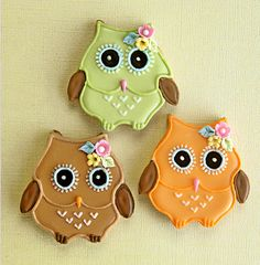 Owl cookies - Amy Atlas
