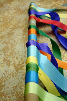 How to make a ribbon curtain.