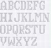 Free Crochet Patterns and Projects, How To Crochet Guides, Charts and More at AllCrafts! Filet Crochet Alphabet Charts, Crochet Letters Pattern, Cross Stitch Alphabet Patterns, Letter Patterns, Doily Patterns, Cross Stitch Charts, Crotchet Stitches, Crochet Numbers, Holiday Crochet Patterns