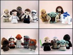 PDFs of all 14 Star Wars Mini Amigurumi Patterns by lucyravenscar