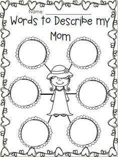 Resultado de imagen para printable sheets to write pinterest mother day