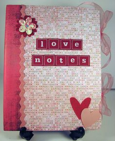 LOVE NOTES altered Composition Notebook for journaling or diary...write notes to each other, leave it for the person to respond with their own...nice way to preserve memories