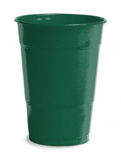 Hunter Green 16 Oz. Plastic Solid Cups - 240 Cups