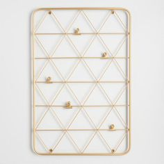Gold Wire Photo Clip Wall Panel - v1