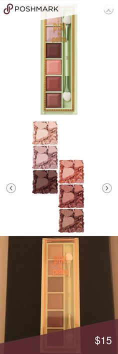 NWT!! Eyeshadow Pallet Pixi by Petra. Eyeshadow pallet. Mesmerizing mineral pallet. Copper Peach Colors. Kit contains: 6 Mineral Eye Shades + Duo Applicator. Mineral formula reflects light away from imperfections, while gemstone-inspired tones enhance your natural beauty. Pixi Makeup Eyeshadow