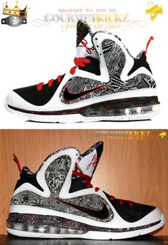 Custom Lebron 9 Freegums Inside Out by GourmetKickz 46abd989d0
