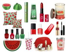 """Watermelon wild"" by sofia-polyvore-lover ❤ liked on Polyvore featuring beauty, Boston Warehouse, Deborah Lippmann, Sally Hansen, Dolce&Gabbana, ORLY, Tata Harper, OPI, Yves Saint Laurent and Essie"