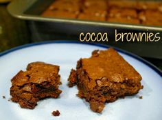 Mmmm brownies...and not from a box!