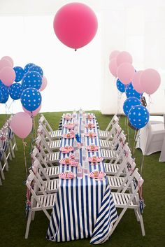Lovely table settings at a girl birthday party!  See more party ideas at CatchMyParty.com!  #partyideas #girlbirthday