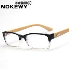 9148c180b032f0 Tendance lunettes   Hommes femmes lunettes de bambou vintage frame lunettes  cadre myopie lunettes hommes femmes miroir simple dans Eyewear Frames de ...
