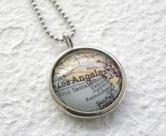 L.A. Map Locket