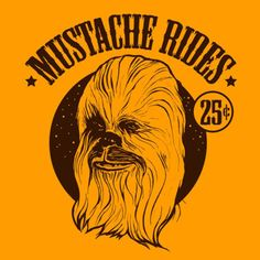 Mustache Rides Chewbacca Meme Printed on by ChampionAwards Funny Images, Funny Pictures, Nerd Herd, Love Stars, Geek Out, Chewbacca, Star Wars Art, Mustache, Nerdy