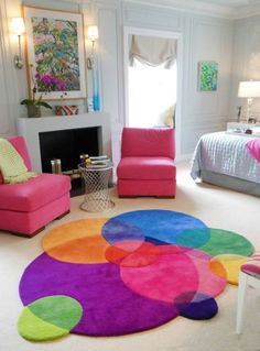 Bubbles - Contemporary Modern Area Rugs by Sonya Winner - Rainbow Rug