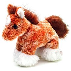 """Aurora Plush Clyde Clydesdale Horse 8"""" -- Learn more by visiting the image link. (This is an affiliate link) #Puppets"""