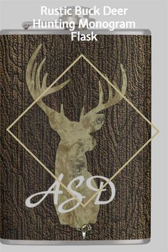 Beautiful Monogram Flask for the hunter in your life! Faux wood background and large rustic Buck deer with large antlers. Click to get! Buck Deer, Deer Hunting, Hunting Home Decor, Holiday Cards, Christmas Cards, Wood Background, White Elephant Gifts, Antlers, Flask