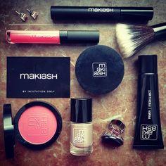 MAKIASH makeup, lipgloss,, blush, nail polish, primer, mascara