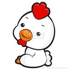 왼쪽으로 앉아있는 닭캐릭터. 동양 12지신 캐릭터 디자인 시리즈. (BCDS011301) The Left sit Chicken Mascot. The East Twelve zodiac Character Design Series. Copyrightⓒ2000-2013 Boians.com designed by Cho Joo Young.