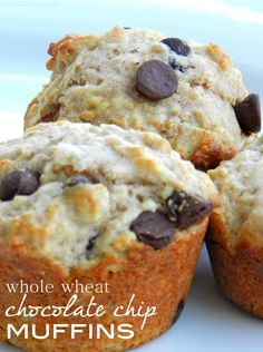 bella: Perfect Morning Muffins: Whole wheat chocolate chip. Swapped chocolate out for pb chips