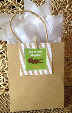 Reptile favor tags by Oohlalovely on Etsy