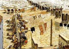 Stanley Spencer - Southwold Beach Comes Alive