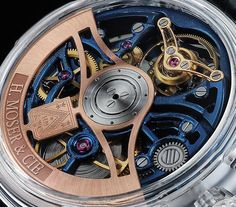 "H. Moser & Cie. Venturer Tourbillon Dual Time Sapphire Blue Skeleton Watch - by Kenny Yeo - See more at: aBlogtoWatch.com ""The market for new watches has slowed considerably, and brands are furiously looking at ways to engage new customers mainly by releasing more accessible and more value-for-money new watches. That said, there are some who are still willing to take risks. After all, some of the ultra-rich still need to get their watch kicks, right? If money is no object to you..."""