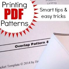 Learn how to assemble printed pdf patterns. The Sewing Loft
