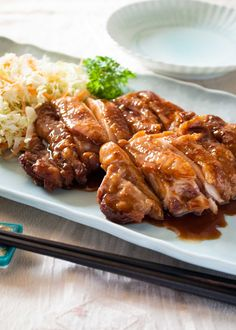 Teriyaki Chicken is so easy to make. The sauce is just a mixture of soy sauce, sake, mirin and sugar. You don't even marinate and it takes only 15min!