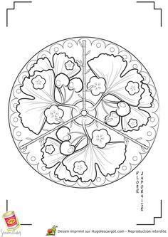 Mandala Japon Flore, page 5 sur 13 sur HugoLescargot.com
