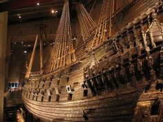 The Vasa Museum. A museum centered around the remains of a 17th century ship. Stockholm, Sweden.