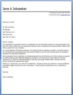 pharmacist cover letter examples - Pharmacist Cover Letter Example