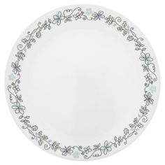 Corelle Livingware Day Dream 10-1/4-Inch Dinner Plate by World Kitchen (PA). $4.99. Made of lightweight chip  stain and fade resistant laminated bonded glass with mug of durable stoneware. 3-year limited break and chip warranty. Safe for microwave  oven and dishwasher. Corelle Day Dream dnner plate. This lighthearted doodle design is fun for everyday dining. With a lovely ivy floret and dainty purple butterfly Day Dream is forever young .. Corelle Livingware Day Dream...