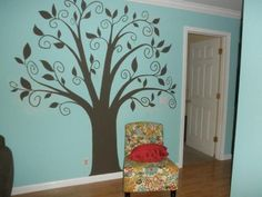 "Living Room ""Family Tree"" Wall Mural"