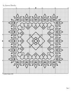Blackwork Pattern (square) - by Jeanne Dansby {wyrdbyrd designs}