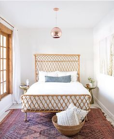 Curved Rattan Bed | Anthropologie Home #homedecor