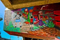 Love the color in the mural at San Diego's Chicano Park #Travel #SanDiego #art #muralart