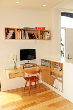floating shelf desk - Google Search