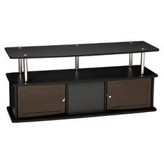 """TV Stand with 3 Cabinets Black 47"""" - Convenience... : Target"""