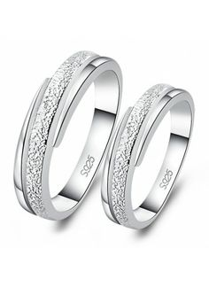 Frosted Engraving Couple Rings