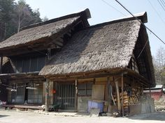 Thatched roof house in Ichinose, Enzan, Yamanashi, Japan