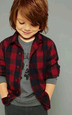 Toddler Boys Style. 2 Pattern Layering,  (Would prefer w/a smaller plaid, Gingham maybe).