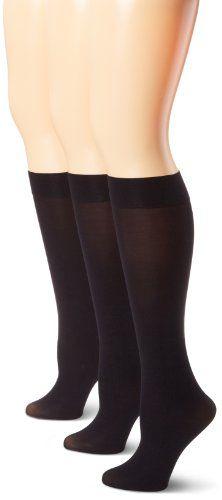 Nine West Women's Solid Opaque 3 Pair Pack Trouser Sock $12.39