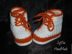 Купить Мастер - класс по вязанию ботиночек №2. - комбинированный, МК, мастер-класс