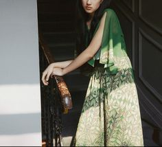 L'amant Collection muse of spring green floral by PurpleFishBowl
