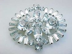 ESTATE WEISS SIGNED RHINESTONE BROOCH PIN 15.1GR NO RESERVE LADIES JEWELRY | eBay