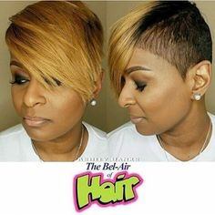 short bob black hairstyles Gorgeous black hairstyles with weave Shaved Side Hairstyles, Black Hairstyles With Weave, Cute Hairstyles For Short Hair, My Hairstyle, Short Hair Cuts, Short Hair Styles, Gorgeous Hairstyles, Pixie Cuts, Short Pixie