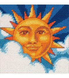 Dimensions Celestial Sun Mini Needlepoint Kit, , hi-res